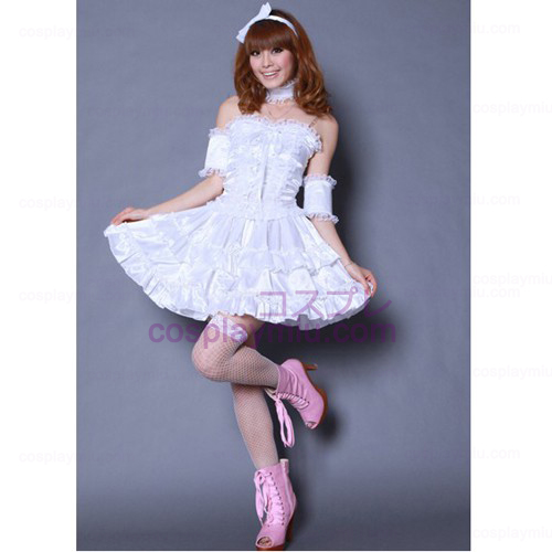 White Lolita Princess maid Costumes
