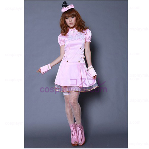 Pink Princess Dress Lolita Cosplay Maid Costumes
