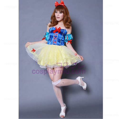 Pompon Veil Anime Cosplay Costume Snow White Maid Costumes