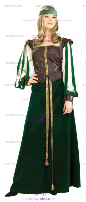 Green Maid Marian Adult Costume