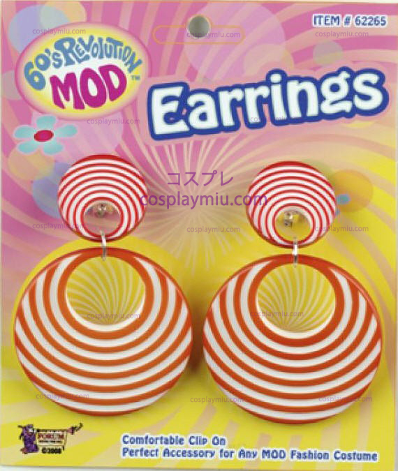 Orange Swirl Earrings