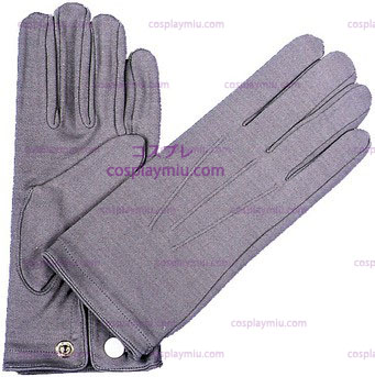 Gloves Nylon W Snap Mens Grey