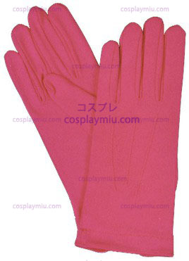 Gloves Nylon W Snap Hot Pink