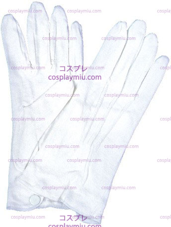 Gloves Cotton W/Snap,White 1S