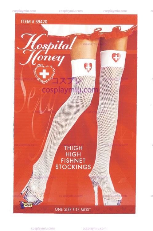 Nurse Fishnet Thigh Highs