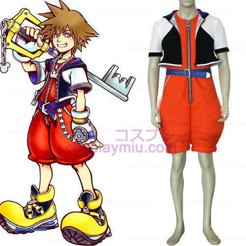 Kingdom Hearts 1 Sora Men's Cosplay Costume