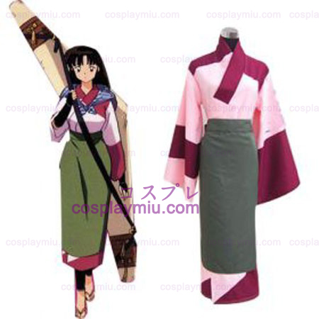 Inuyasha Sango Fighting Suit Outfit Cosplay Costume Halloween