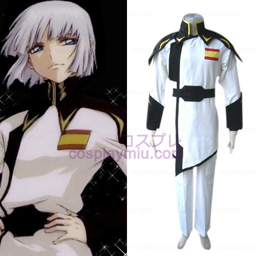 Gundam Seed Lyzak Jule White Uniform Cosplay Costume