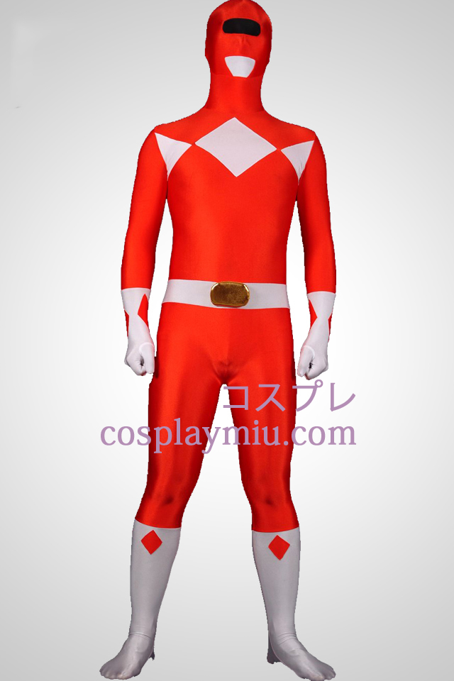 Mighty Red Ranger Lycra Spandex Unisex Zentai Suit