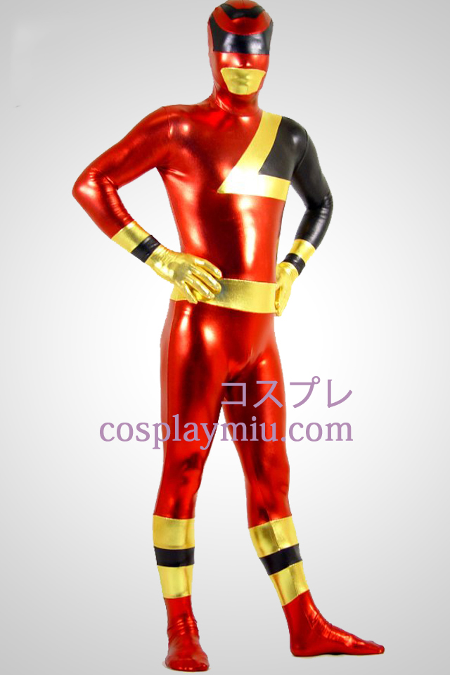SPD Red Ranger Shiny Metallic Superhero Zentai Suit