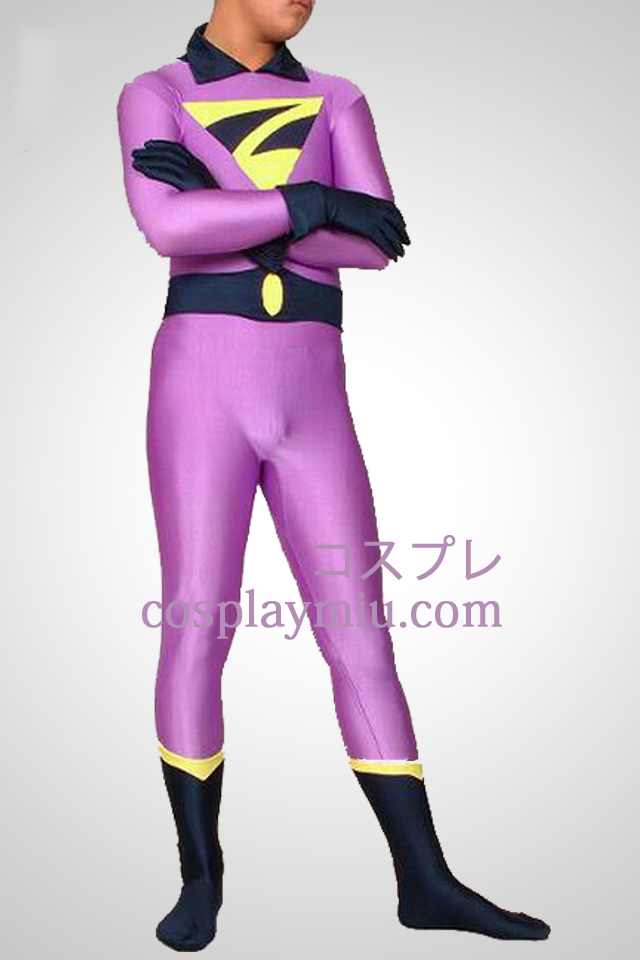 Light Purple Superman Lycra Spandex Superhero Catsuit
