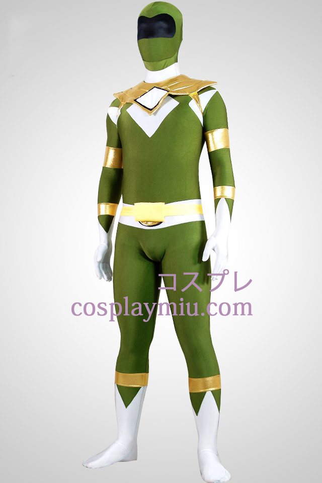 Mighty zentaiin Green Ranger Lycra Spandex Zentai Suit