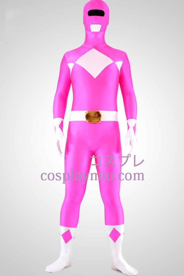 Mighty zentaiin Pink Ranger Lycra Spandex Superhero Zentai Suit