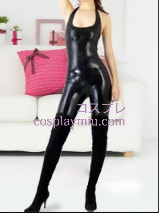 Black Sexy Female Latex Catsuit