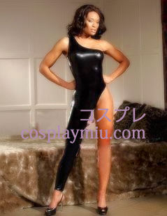 Erogenous One-shoulder Latex Costume