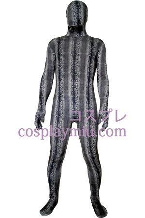 Black Digital Prints Lycra Zentai Suit