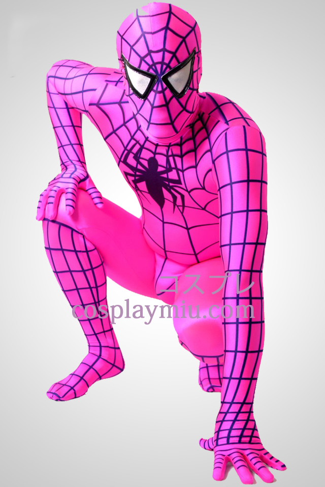 Plum Lycra Spandex Spiderman Zentai Suit