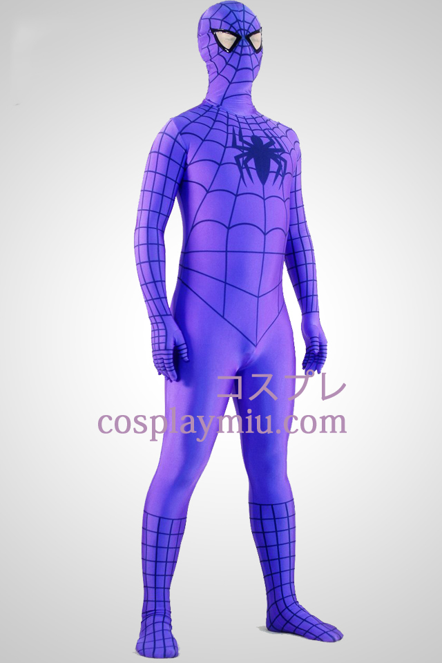Purple Spiderman Superhero Zentai Suit