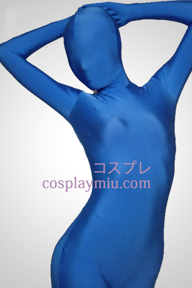 Blue Lycra Full Body Spandex Zentai Suit