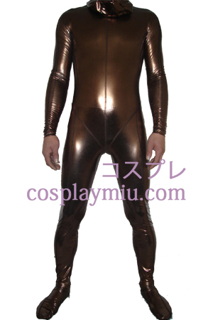 Brown Shiny Metallic Zentai Suit
