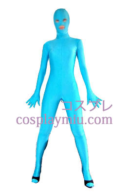 Light Blue Sexy Open Eyes Mouth Lycra Spandex Zentai