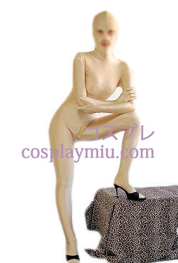 Nude Color Open Eyes And Mouth Lycra Spandex Zentai