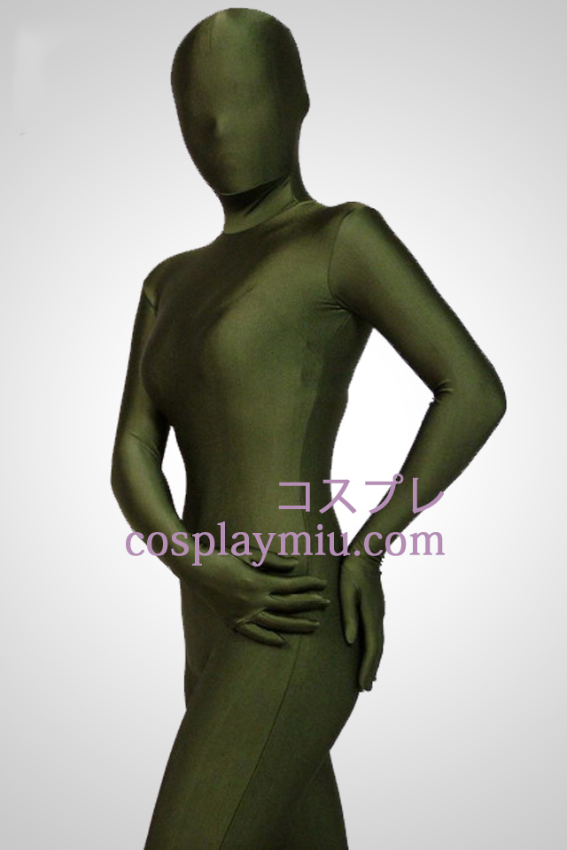 Green Full Body Lycra Spandex Zentai Suit